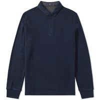Fred Perry Long Sleeve Double Face Polo Blue