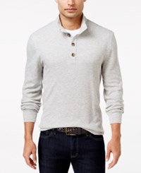 Club Room Men's Three Button Waffle Knit Only At Macy's Light Grey Heather