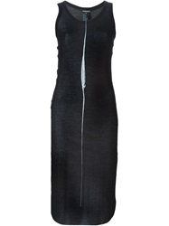Ann Demeulemeester Long Ribbed Tank Top Black