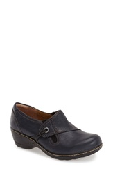 Softspots 'Helen' Slip On Women Navy Leather