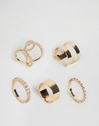 Ny Lon Nylon Multi Pack Rings Multi Gold