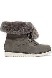 Australia Luxe Collective Yael Shearling Lined Suede Boots Gray