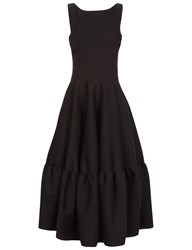 Antonio Berardi Black Sleeveless Peplum Skirt Dress