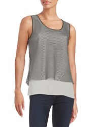 T Tahari Colorblocked Layered Tank