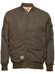 Fly 53 Bovva Full Zip Bomber Jacket Khaki