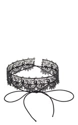 Fallon Andalusia Lace Choker Black