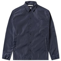 Norse Projects Svend Poplin Coach Jacket Blue