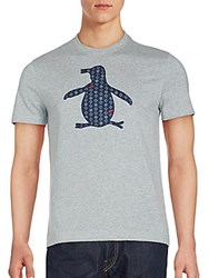 Penguin Woven Applique Rain Heathered T Shirt