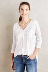 Bordeaux Sami Linen Top White