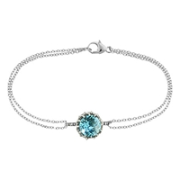 London Road Bloomsbury 9Ct White Gold Chequer Cut Topaz Coronation Bracelet