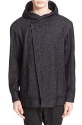 Drifter Men's 'Espial' Asymmetric Hoodie Heather Black