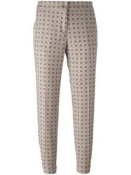 Etro Floral Patterned Trousers Nude And Neutrals