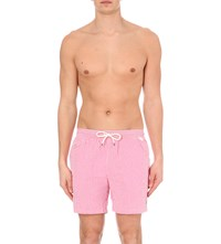Ralph Lauren Striped Seersucker Swim Shorts Pink
