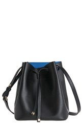 Lodis 'Small Blake' Drawstring Bucket Bag Black Black Cobalt