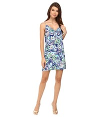 Lilly Pulitzer Lela Dress Multi Hanging With Fronds Women's Dress Blue