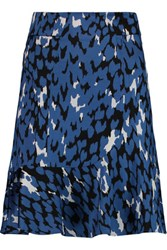 Issa Salome Stretch Jacquard Mini Skirt Royal Blue