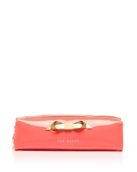 Ted Baker Cosmetic Case Britni Slim Bow Pencil Brush Orange