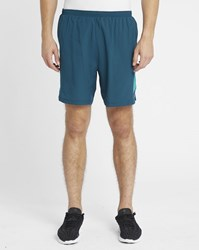 Nike Turquoise Poursuite 2 In 1 Shorts 7 Inches Green