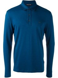 Michael Kors Longsleeved Polo Shirt Blue