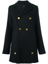 Proenza Schouler Double Breasted Coat Black