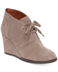 Lucky Brand Women's Seleste Lace Up Wedge Booties Women's Shoes Brindle