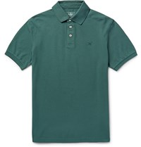Hackett London Slim Fit Stretch Cotton Pique Polo Shirt Green