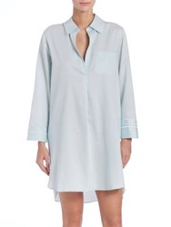 Natori Ming Cotton Sleepshirt Blue
