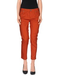 Burberry Brit Trousers 3 4 Length Trousers Women Rust
