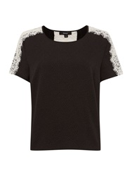 Therapy Bubble Top With Lace Black