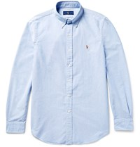 Polo Ralph Lauren Button Down Collar Cotton Oxford Shirt Sky Blue
