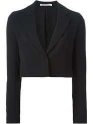 T By Alexander Wang Cropped Blazer Black