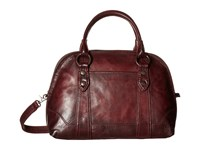 Frye Melissa Domed Satchel Wine Satchel Handbags Burgundy