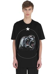 Givenchy Columbian Monkeys Cotton Jersey T Shirt