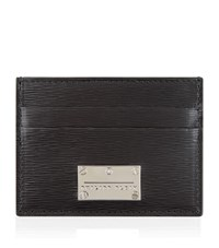 Philipp Plein Leather Cardholder Unisex Black