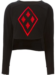 Marcelo Burlon County Of Milan Cropped Sweatshirt Black