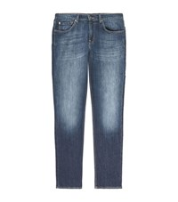 7 For All Mankind Slimmy Whiskered Jeans Male Dark Blue