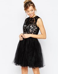 Little Mistress Prom Dress With Metallic Lace Top Black Nude Gold