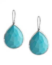 Ippolita Turquoise Teardrop Earrings Medium Silver