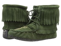 Manitobah Mukluks Harvester Moccasin Moss Women's Slippers Green