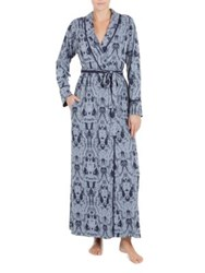 Jonquil Stormy Skies Printed Robe Blue
