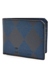 Ben Minkoff 'Vesper' Wallet Navy Plaid