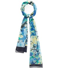 Cc Navy Bouquet Flower Scarf