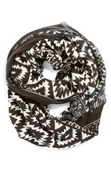 Junior Women's Bp. Geo Ikat Print Infinity Scarf