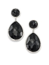 Ippolita Rock Candy Black Onyx And Sterling Silver Drop Earrings