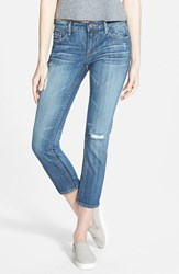 Junior Women's Vigoss 'Thompson' Crop Skinny Jeans Medium Wash