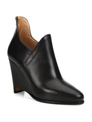 Maison Martin Margiela Leather Wedge Booties Black