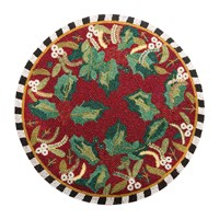 Mackenzie Childs Holly And Berry Beaded Placemat