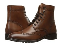 Florsheim Capital Wingtip Lace Up Boot Cognac Smooth Men's Dress Lace Up Boots Neutral