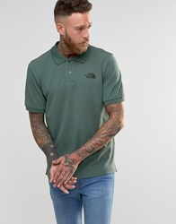 The North Face Polo Shirt With Tnf Logo In Green Green