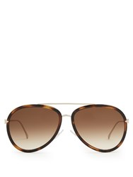 Fendi Aviator Acetate Sunglasses Tortoiseshell